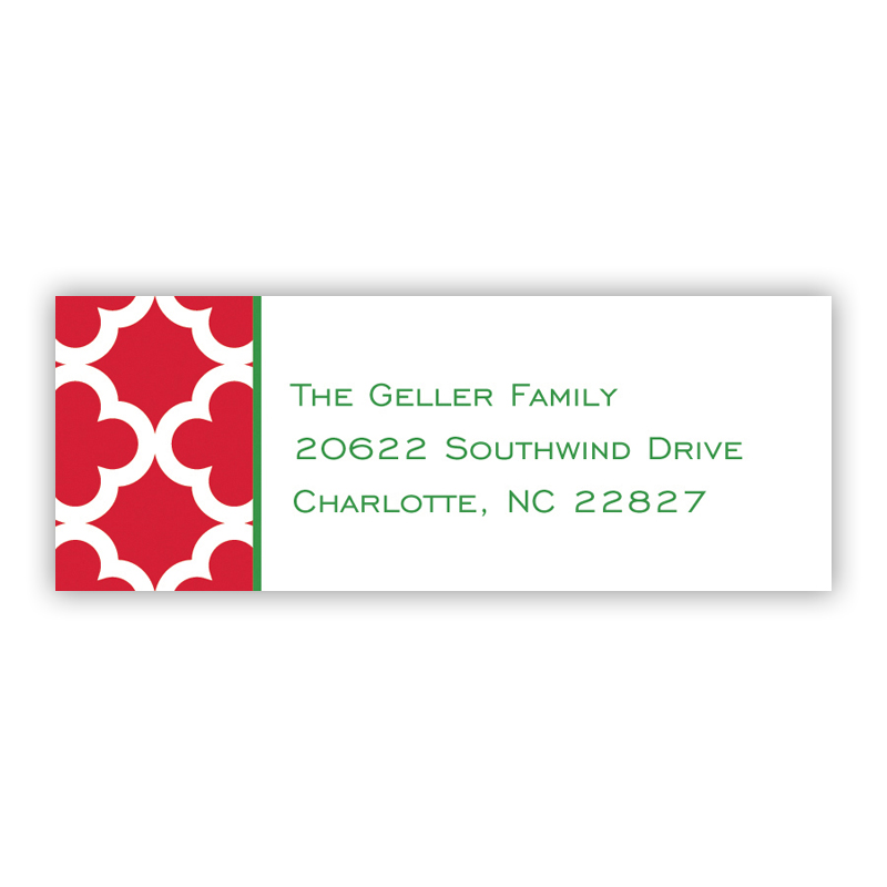 Bristol Tile Pine Holiday Return Address Label