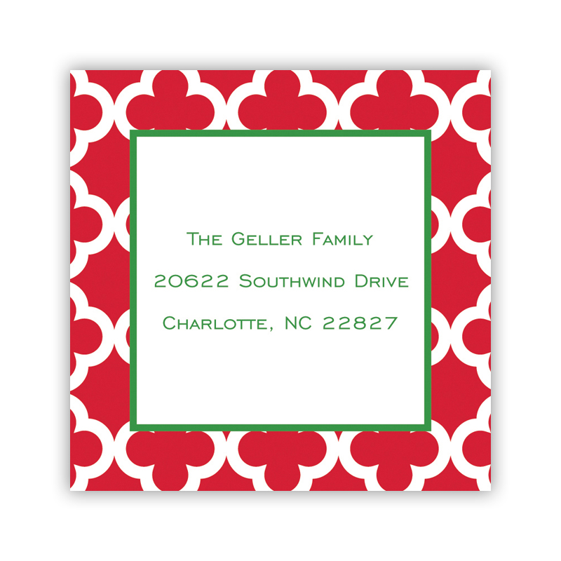 Bristol Tile Pine Holiday Square Sticker