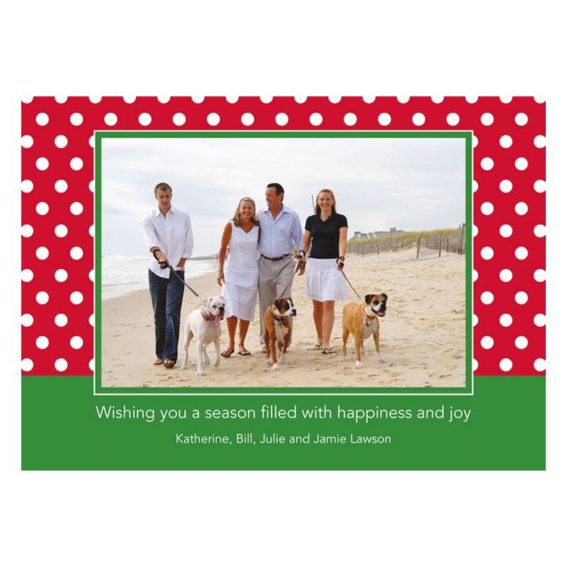Polka Dot Cherry Holiday Flat Photocards