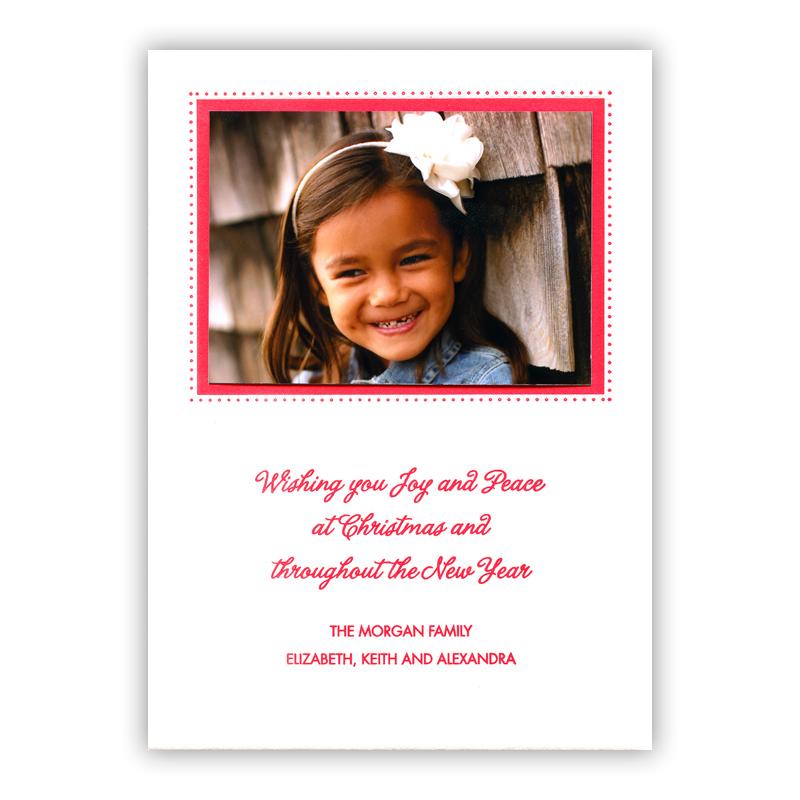 Dots Border Letterpress Holiday Photocard