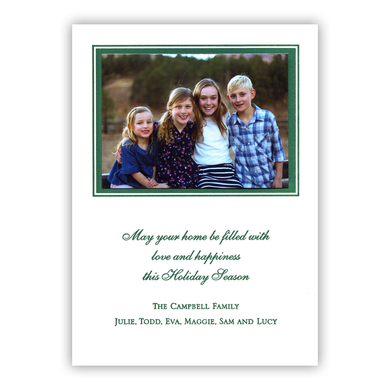 Double Border Letterpress Holiday Photocard