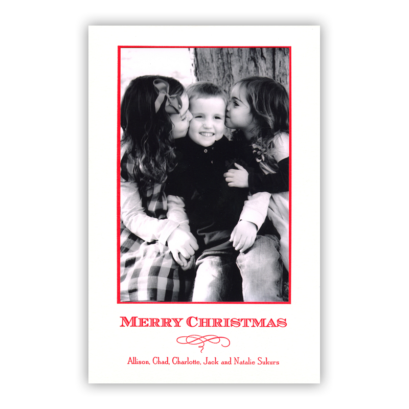 Classic Letterpress Holiday Photocard