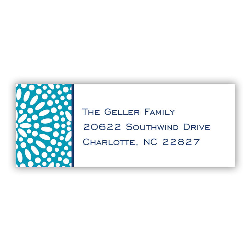 Bursts Cornflower Holiday Return Address Label