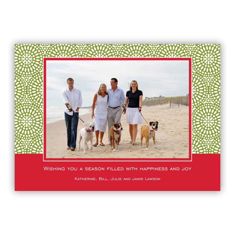 Bursts Cornflower Holiday Flat Photocards