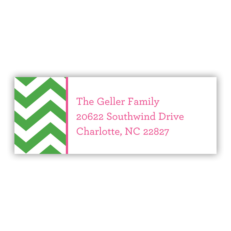 Chevron Chocolate Holiday Return Address Label