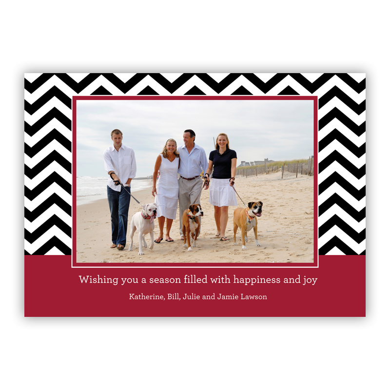 Chevron Chocolate Holiday Flat Photocards