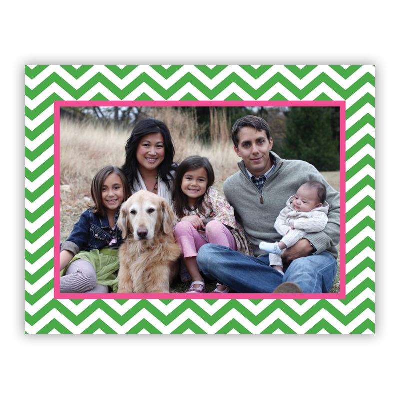 Chevron Chocolate Holiday Large Folded Photocards