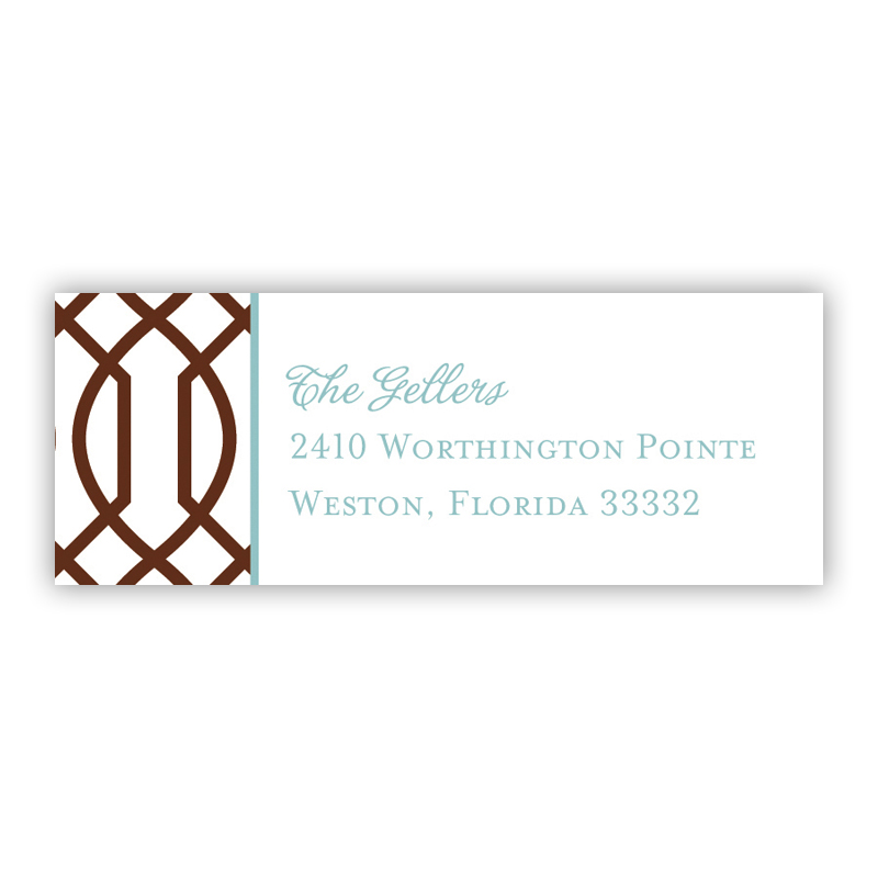 Trellis Holiday Return Address Label