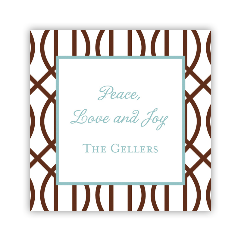 Trellis Holiday Square Sticker