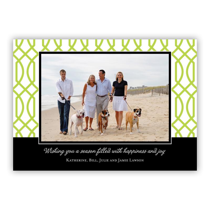 Trellis Holiday Flat Photocards