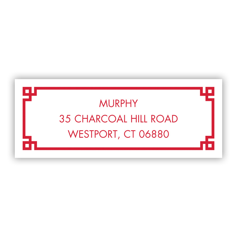Corner Key Address Label