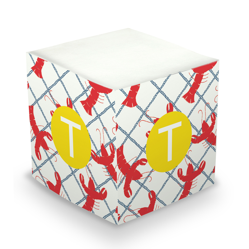 Sticky Note Cube - Rock Lobster