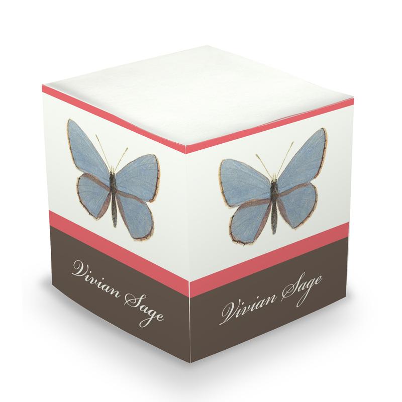 Sticky Note Cube - Butterfly