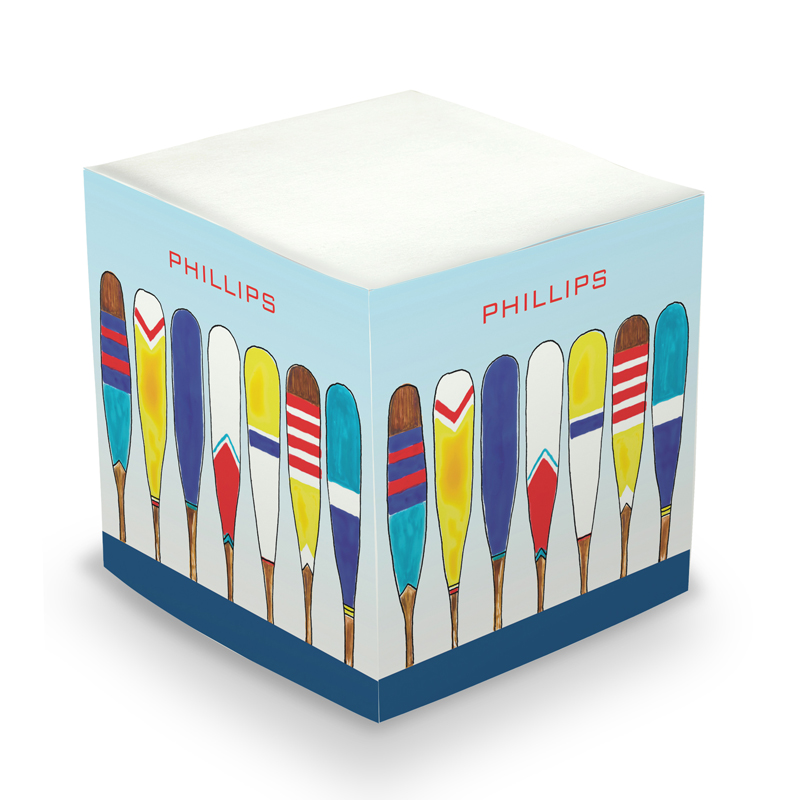 Sticky Note Cube - Colorful Oars