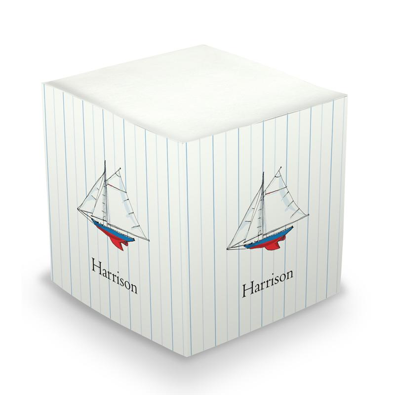 Sticky Note Cube - Sailboat
