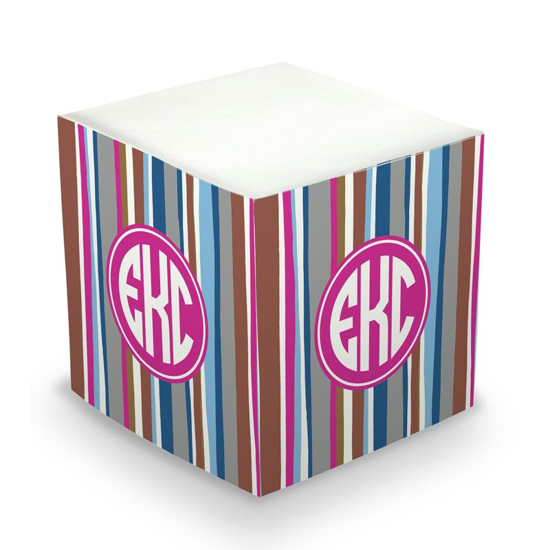 Sticky Note Cube - Cool Stripes