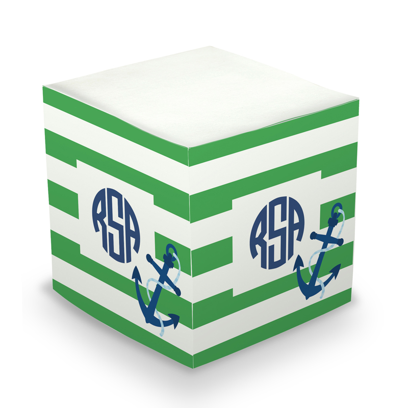 Sticky Note Cube - Stripe Anchor