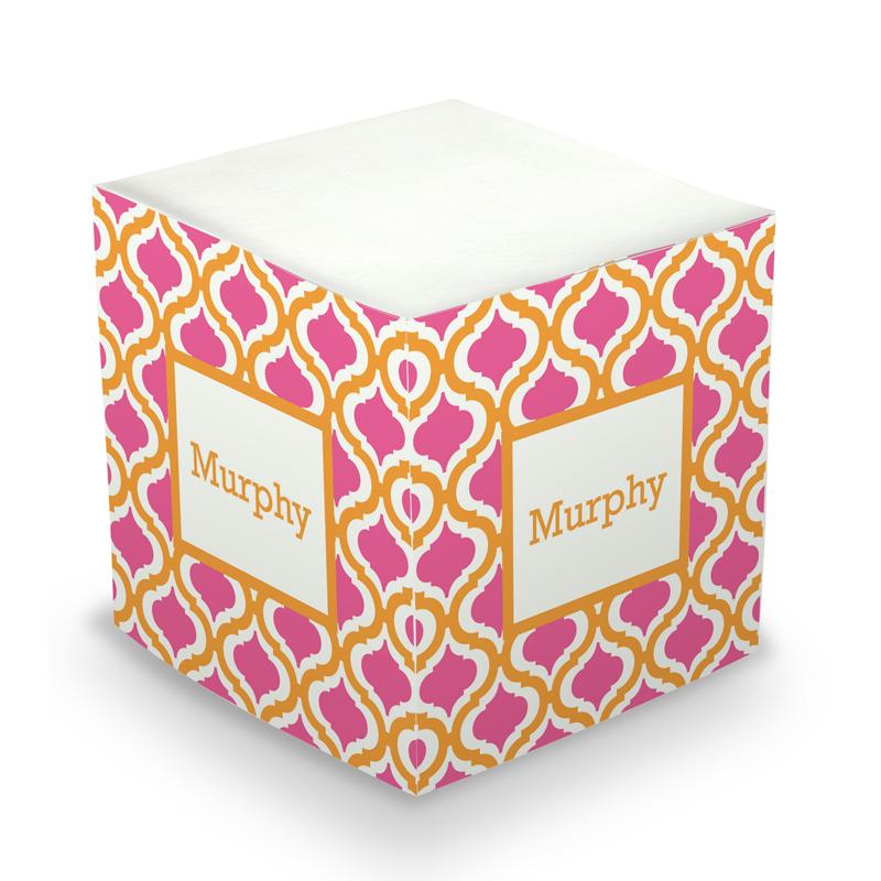 Sticky Note Cube - Kate Tangerine & Raspberry