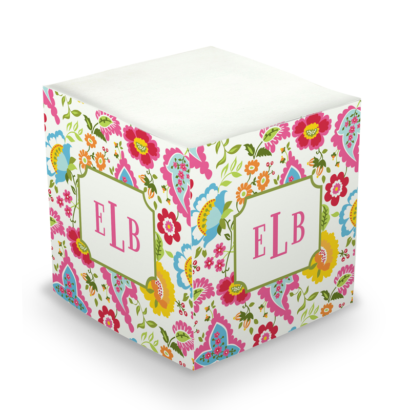 Sticky Note Cube - Bright Floral