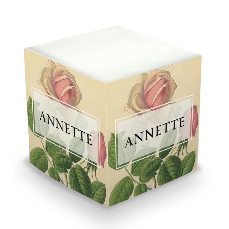 Sticky Note Cube - Rose