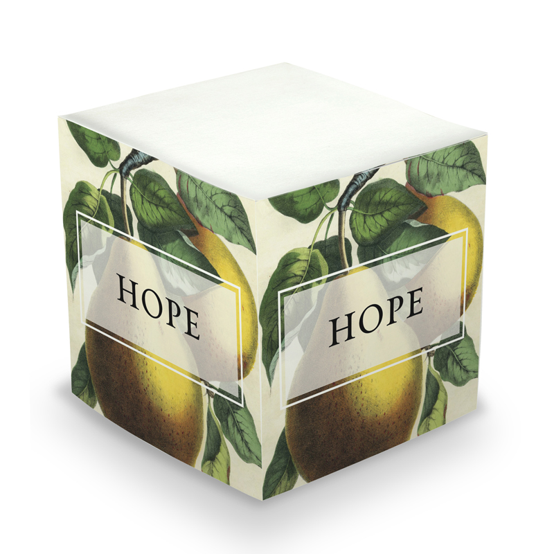 Sticky Note Cube - Pear