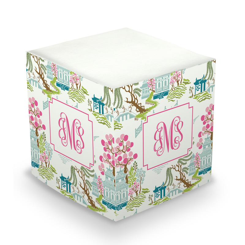 Sticky Note Cube - Chinoiserie Spring
