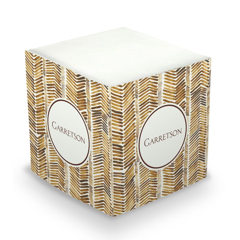 Sticky Note Cube - Herringbone