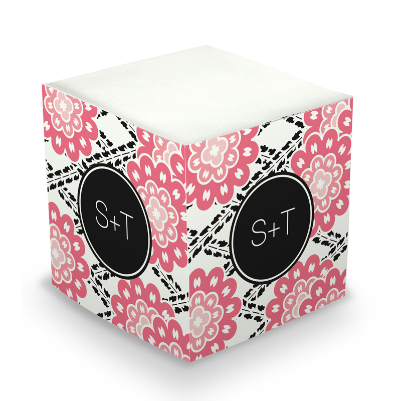 Sticky Note Cube - Camilla Pink