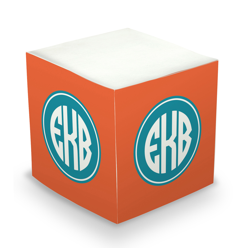 Sticky Note Cube - Great Gifts Orange