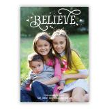 Believe Holiday Flat Photocards