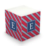 Sticky Note Cube - Repp Tie Red & Navy by Boatman Geller | Small Fry Press