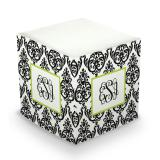 Sticky Note Cube - Madison Damask White & Black by Boatman Geller | Small Fry Press