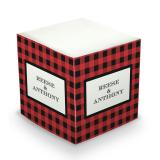 Sticky Note Cube - Black & Red Plaid by Prentiss Douthit | Small Fry Press