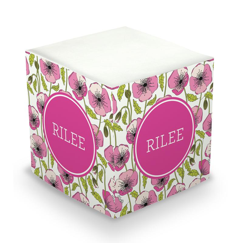 Poppy Sticky Memo Cube 675 sheets