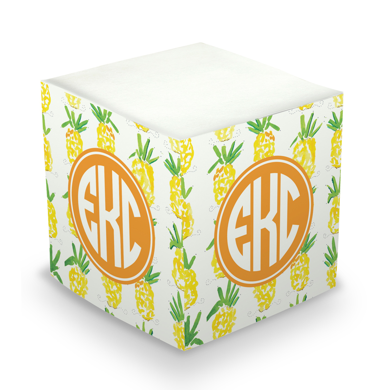 Pineapple Sticky Memo Cube 675 sheets
