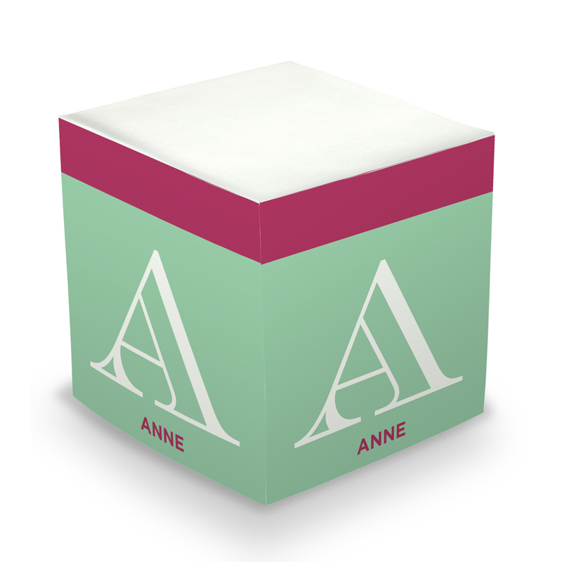 Mint Initital Sticky Memo Cube 675 sheets