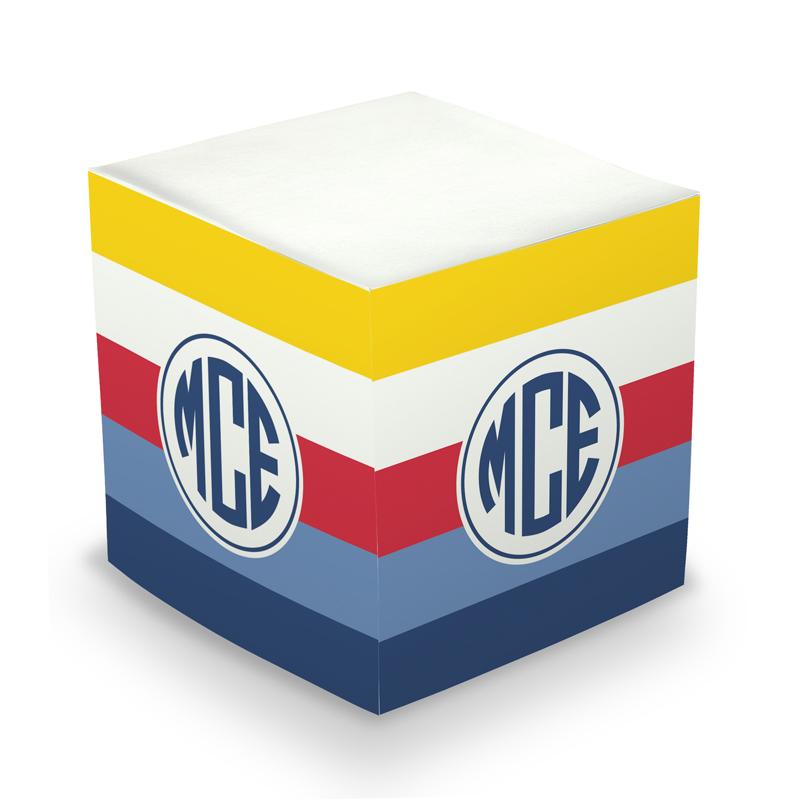 Nautical Bold Stripe Sticky Memo Cube 675 sheets