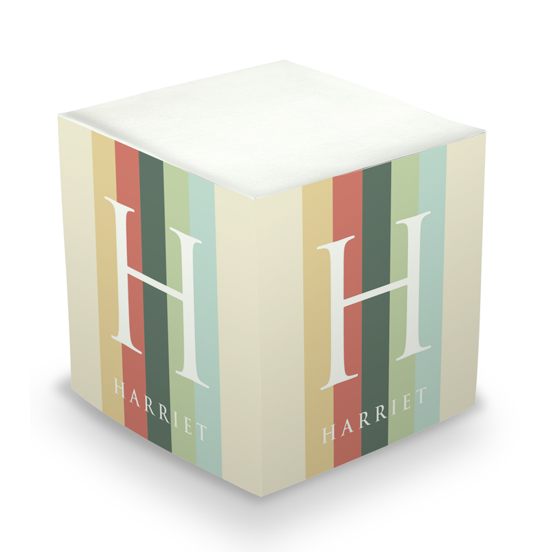 Modern Stripe Sticky Memo Cube 675 sheets