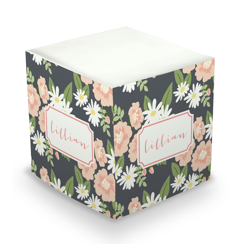 Lillian floral Sticky Memo Cube 675 sheets