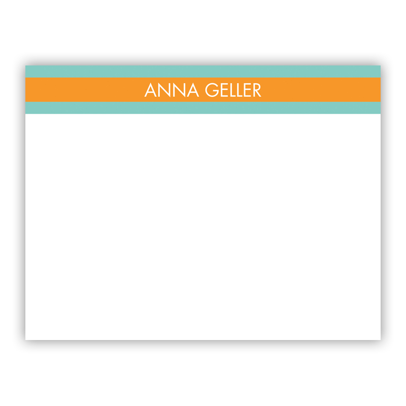 Top Stripe Custom Small Flat Stationery Note