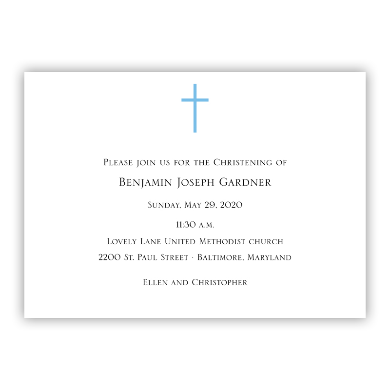 Cross  Invitation or Announcement, sets of 25