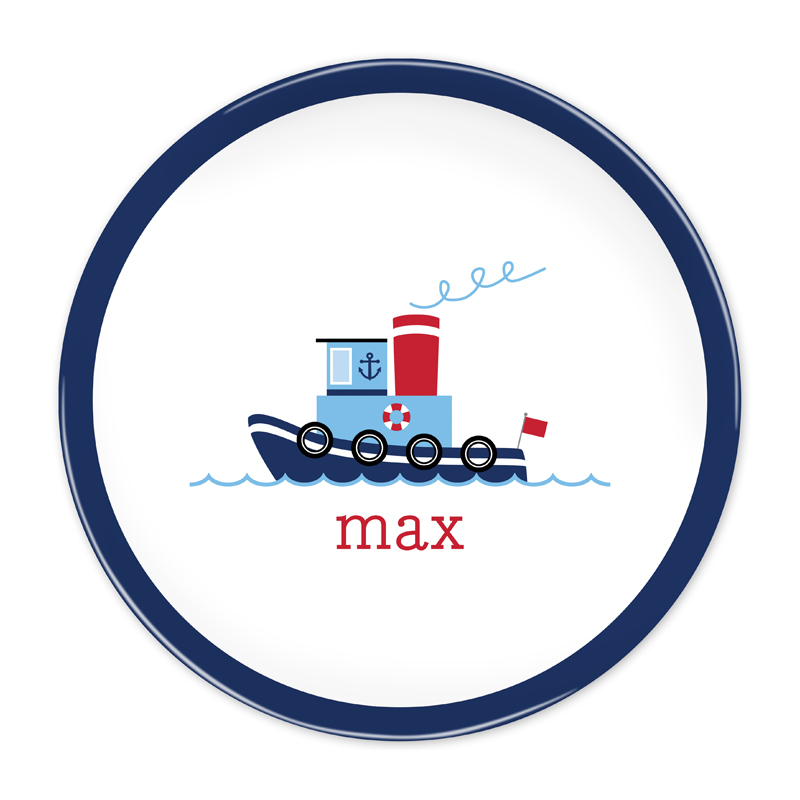 Personalized Tug 10 inch Plate