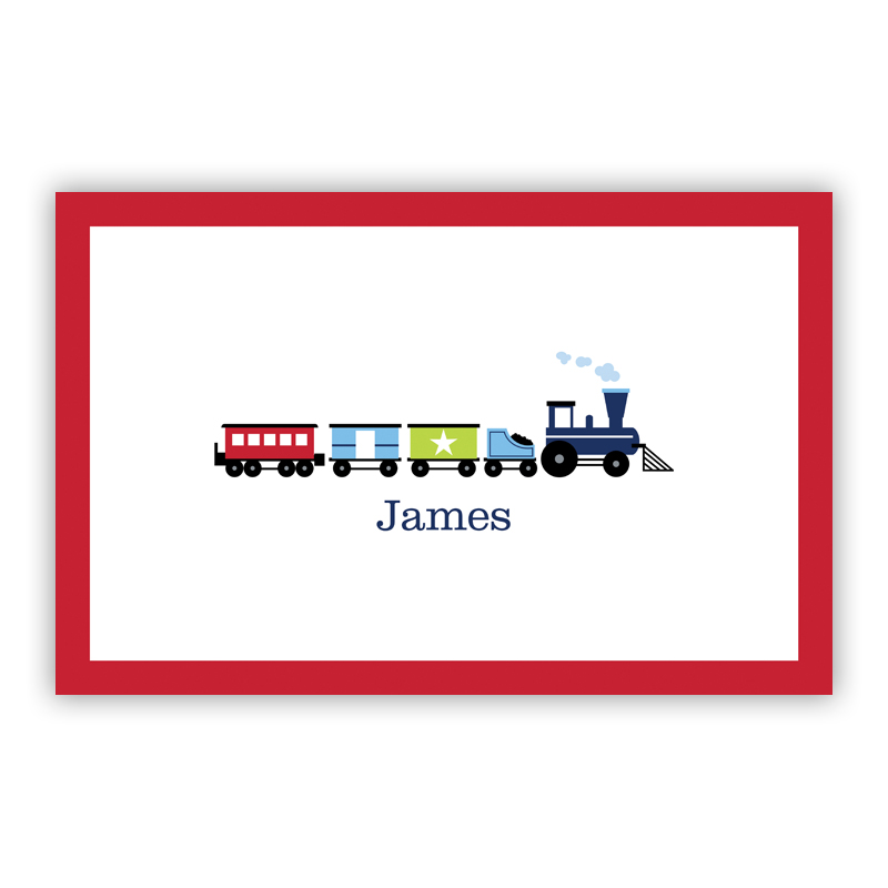Choo Choo Train Disposable Personalized Placemat, 25 sheet pad