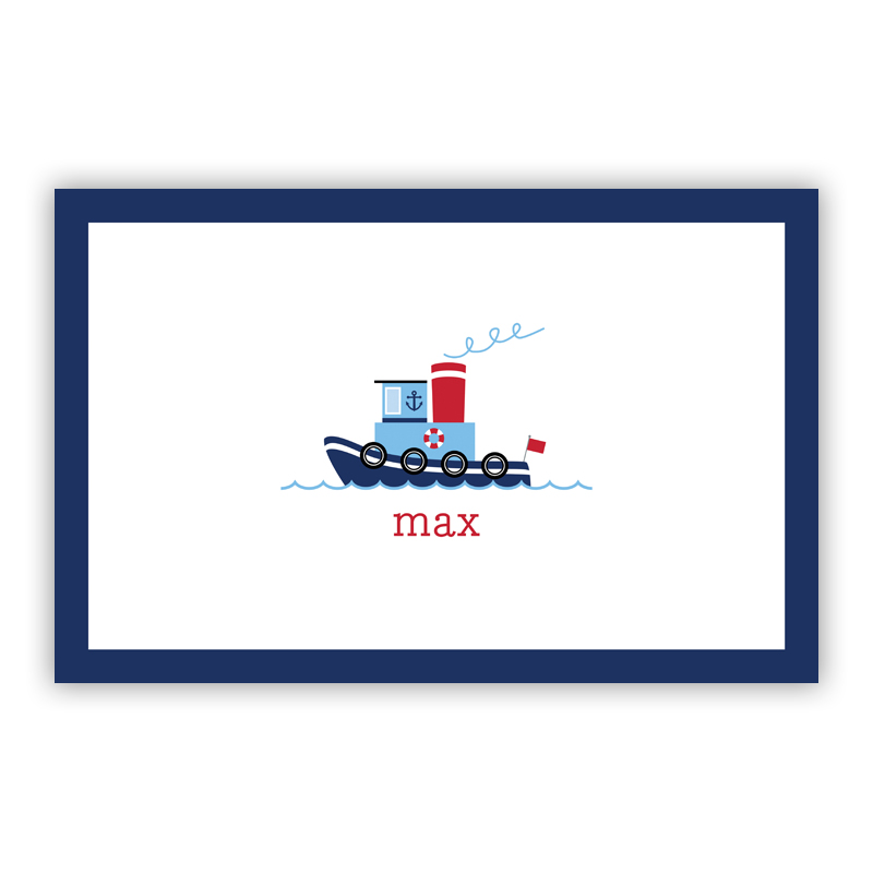 Tug Disposable Personalized Placemat, 25 sheet pad