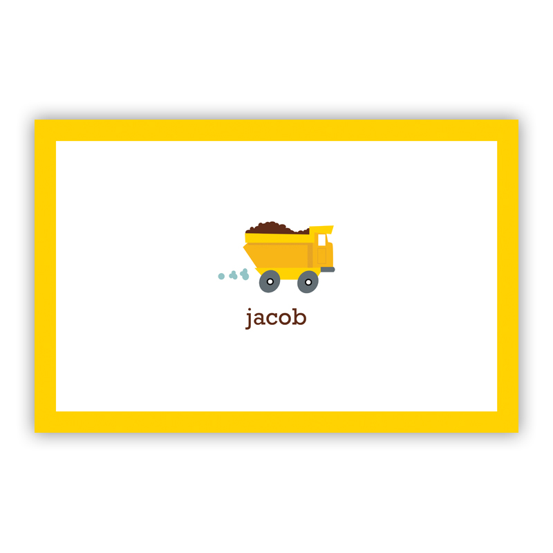 Truck Disposable Personalized Placemat, 25 sheet pad