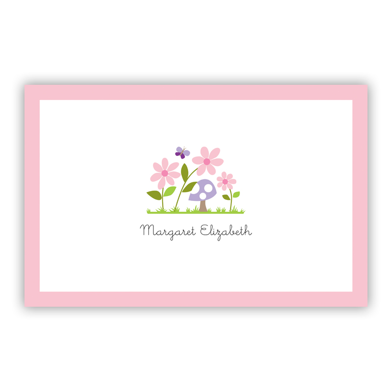 Bloom Disposable Personalized Placemat, 25 sheet pad
