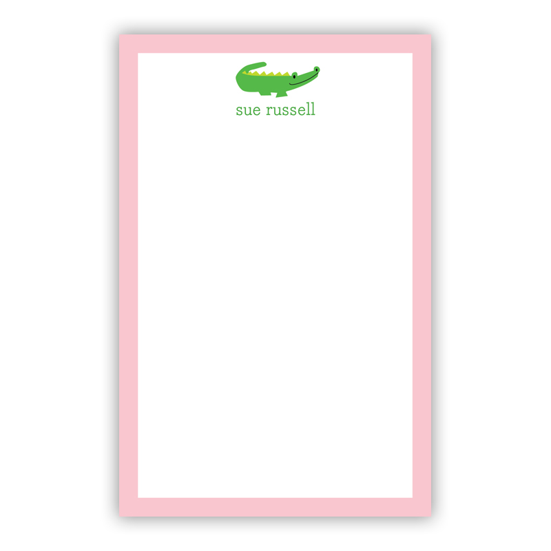 Personalized Alligator Notepad (100 sheets)