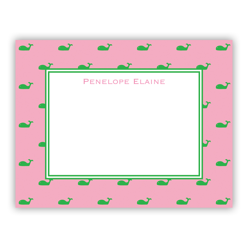 Whale Pink Small Flat Stationery Note