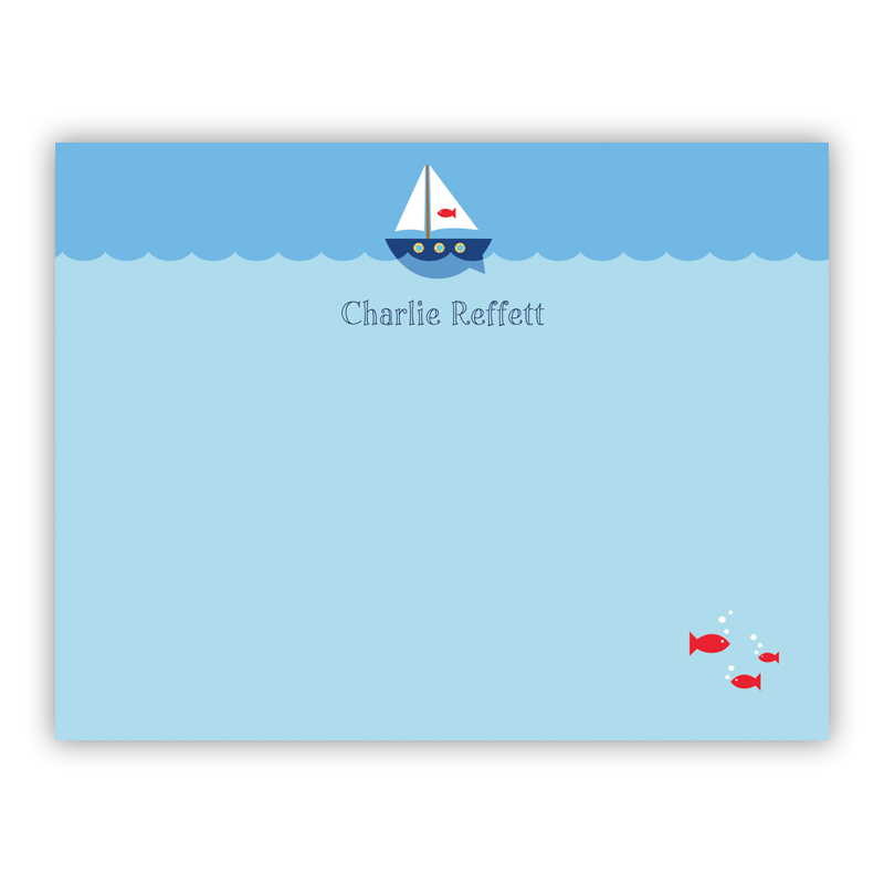 Sailboat Small Flat Stationery Note