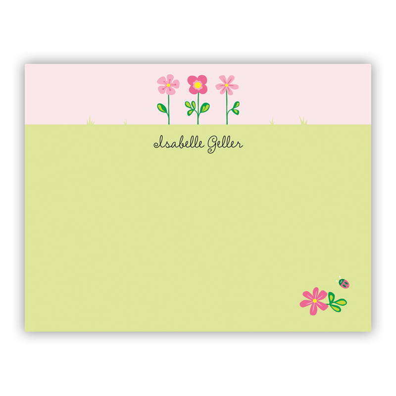 Garden Small Flat Stationery Note